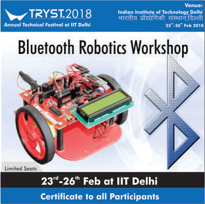 Welcome To Robotryst 2018 Robotics Workshops Association With Iit